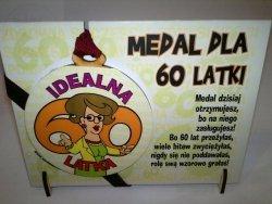 Medal podstawka dla  60-latki