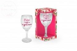 Kieliszek do wina  Piękna , mądra wyjątkowa