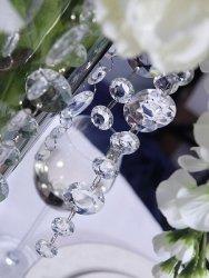 Girlanda kryształowa w kolorze bezbarwnym 1m