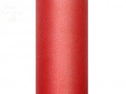 Tiul na szpulce w kolorze czerwonym 15 cm x 9 m