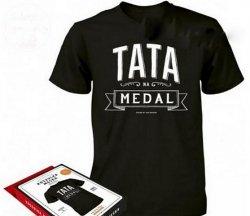Koszulka Vintage - Tata na Medal  XL
