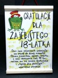 Dyplom pamiątkowy na 18-stkę On  Żaba