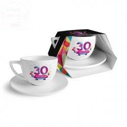 Filiżanka + spodek 30- ste urodziny