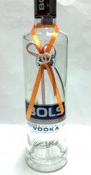 Zawieszki na alkohol pomarańczowo bordowe 10szt