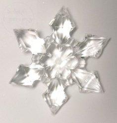 Zawieszka akrylowa gwiazdka duża 1 szt