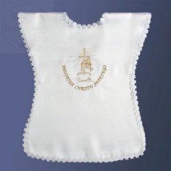 Szatka pelerynka - złoty haft Pamiątka Chrztu Świę