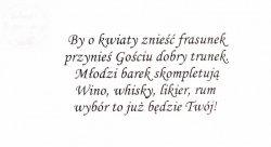 Wkładki do zaproszeń Wino, whysky, likier 25 szt