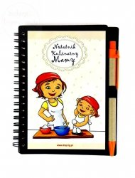 Notatnik kulinarny dla Mamy  CHUSTKA zdługopisem