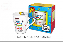 Kubek Kids  SPORTOWIEC  - 1szt