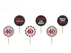 Dekoracje do muffinek 40 urodziny