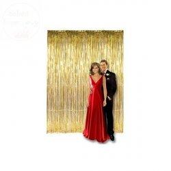 Kurtyna Party złota 90 x 250 cm