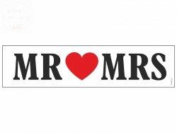 Tablica rejestracyjna Mr  Mrs - 1szt
