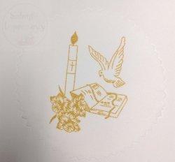 Serwetka materiałowa ozdobna świeca + księga