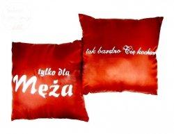 Poduszka malowana satynowa   Tylko dla Męża