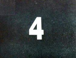 Cyferka drewniana biała 4 - 1szt