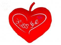 Serce poducha  Kiss Me  24 x 18 cm