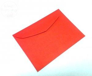 Koperta w kolorze czerwonym 17,5 x 12,5 cm