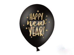 Balony Happy New Year pastelowe 1szt