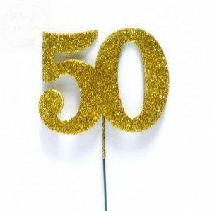 Ozdoba na druciku 50 mała złota - 1szt