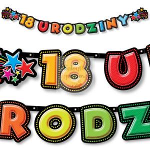 Baner urodzinowy  18 URODZINY  - 198 cm