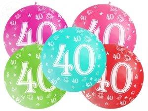 Balon 1 metr pastel różowy 40-te urodziny 1szt
