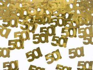 Konfetti metalizowane urodziny 50 - 15 gram