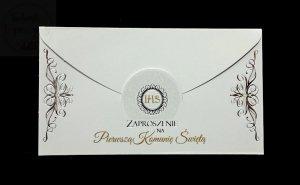 Zaproszenie komunijne  Koperta  1szt