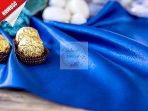 Satyna gładka w kolorze ciemno niebieskim 0,16x9m