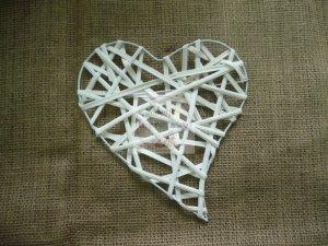 Serce ratanowe płaskie 20 cm - 1szt