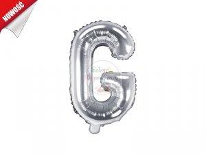Balon foliowy Litera G srebrny 35 cm