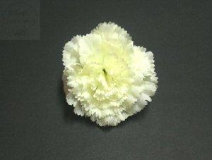 Kwiat sztuczny goździk kremowy