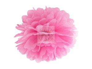 Pompon bibułowy różowy 35cm 1szt