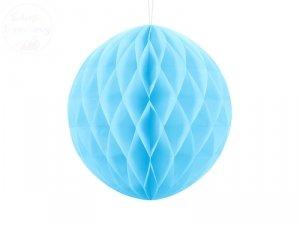Kula bibułowa błękitnym  30 cm  - 1szt