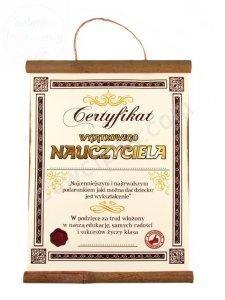Dyplom Certyfikat wyjątkowego nauczyciela