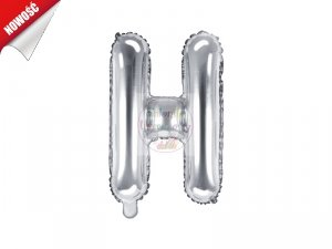 Balon foliowy Litera H 35 cm srebrny