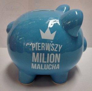 Skarbonka Royal błękitna Pierwszy Milion Malucha