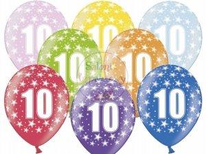 Balony 14 cali mix kolor metalik 10