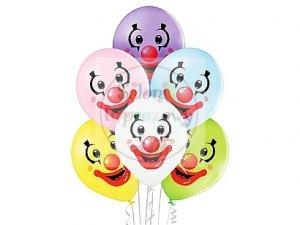 Balony 12 cali Clown Faces mix color 1 szt