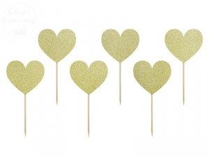 Dekoracja do muffinek Serca Sweet Love 6szt