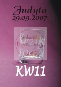 Kieliszek do wódki z grawerem KW11