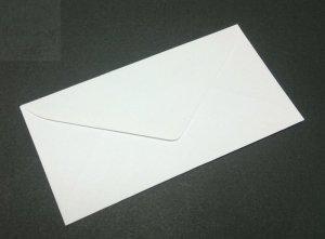 Koperta do zaproszeń biała 8x16cm - 1szt