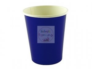 Kubeczki papierowe  Niebieskie  260 ml -6 szt