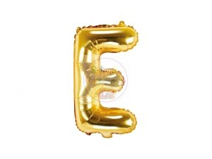 Balon foliowy Litera E 35 cm złoty