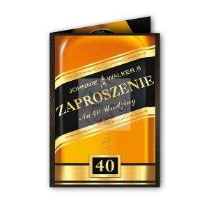 Zaproszenie na 40  urodziny  Johnnie -1szt