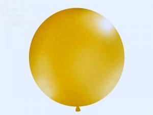 Balon 1 metr w kolorze metalicznym złotym 1 szt