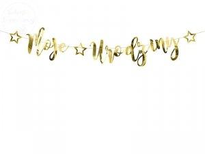 Baner złoty Moje urodziny ZŁOTY16,5x90cm