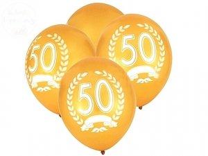 Balony złote z cyfrą 50 - 1szt
