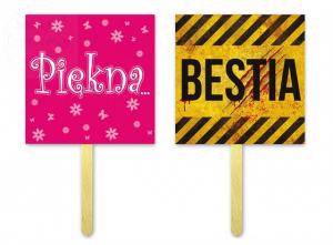 Tabliczki do fotobudek Bestia / Piękna