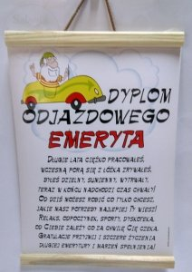 Dyplom Odjazdowego EMERYTA