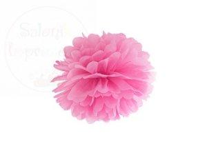 Pompon bibułowy różówy 25cm 1szt
